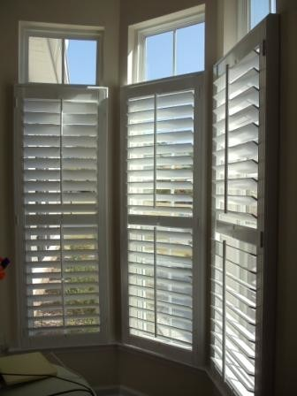 Large single panel plantation shutters traditional for Southern plantation shutters