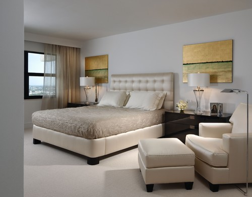 contemporary bedroom by miami interior designer toby zack designs