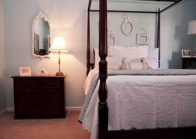 Inspiration for a timeless bedroom remodel in Raleigh