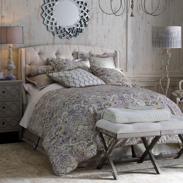 Lavender Gray Bedroom Traditional Bedroom By Horchow