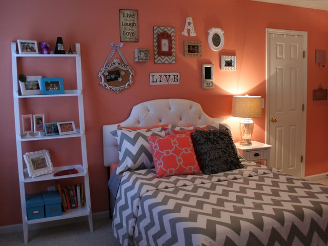 Lawson Residence Coral Bedroom Transitional Bedroom