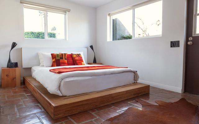 Laxseries Platform Bed And Storage Headboard Southwestern Bedroom