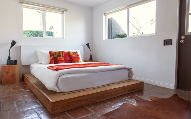 Laxseries Platform Bed And Storage Headboard