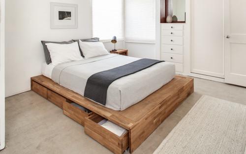 Smuk Seng med opbevaring er oplagt i små soveværelser – Opbevaring QM-49