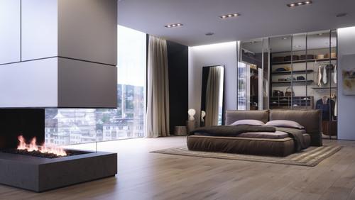 ديكور غرفة نوم رئيسية مودرن بارضية باركيه   218 | ديكورات غرف نوم
