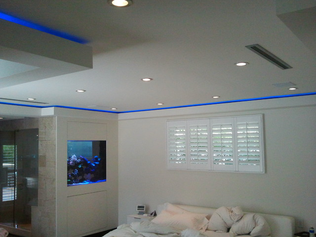 LED Strip Installations Eclectic Bedroom Los Angeles