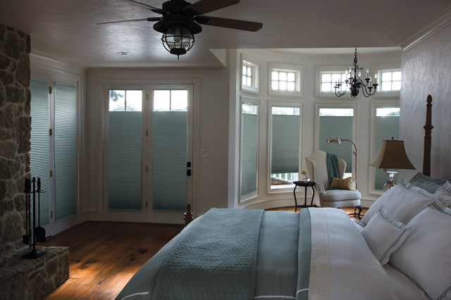 levolor accordia single cell room darkening shades traditional bedroom other metro by. Black Bedroom Furniture Sets. Home Design Ideas