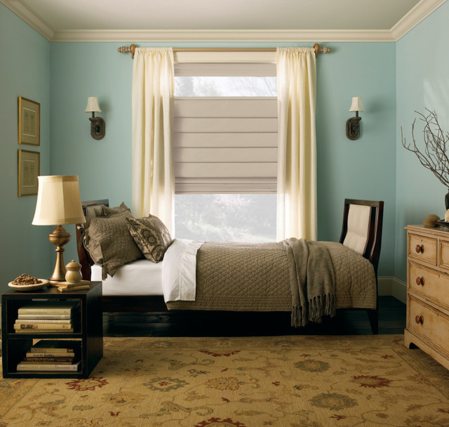 Levolor Classic Roman Shade From Blinds American Traditional Interesting Roman Blinds Bedroom Collection