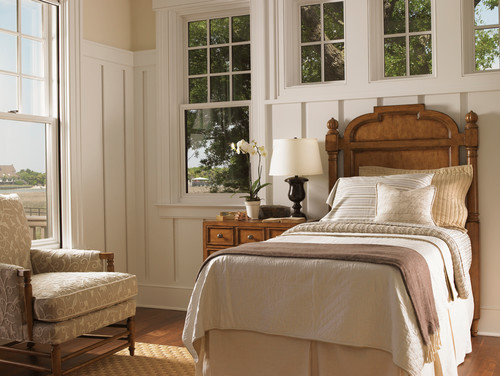Traditional Bedrooms in White