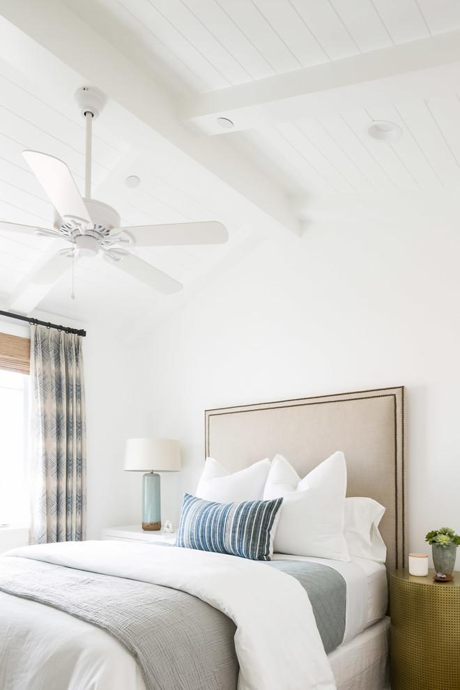 Bedroom - coastal bedroom idea in Orange County