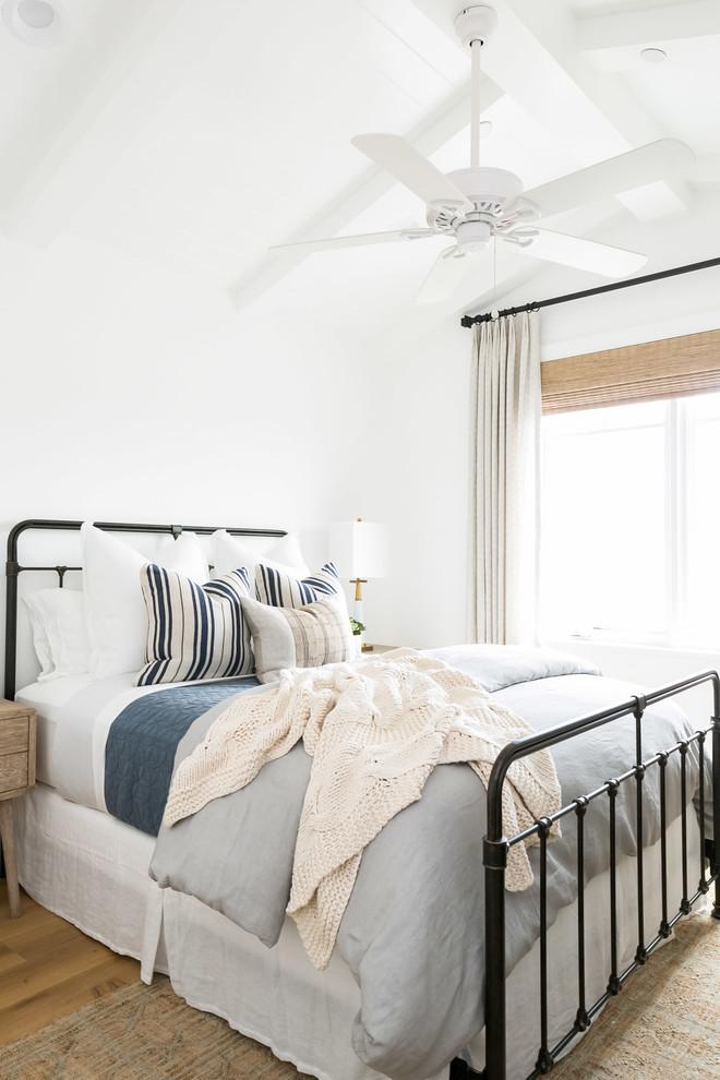 Inspiration for a coastal bedroom remodel in Orange County