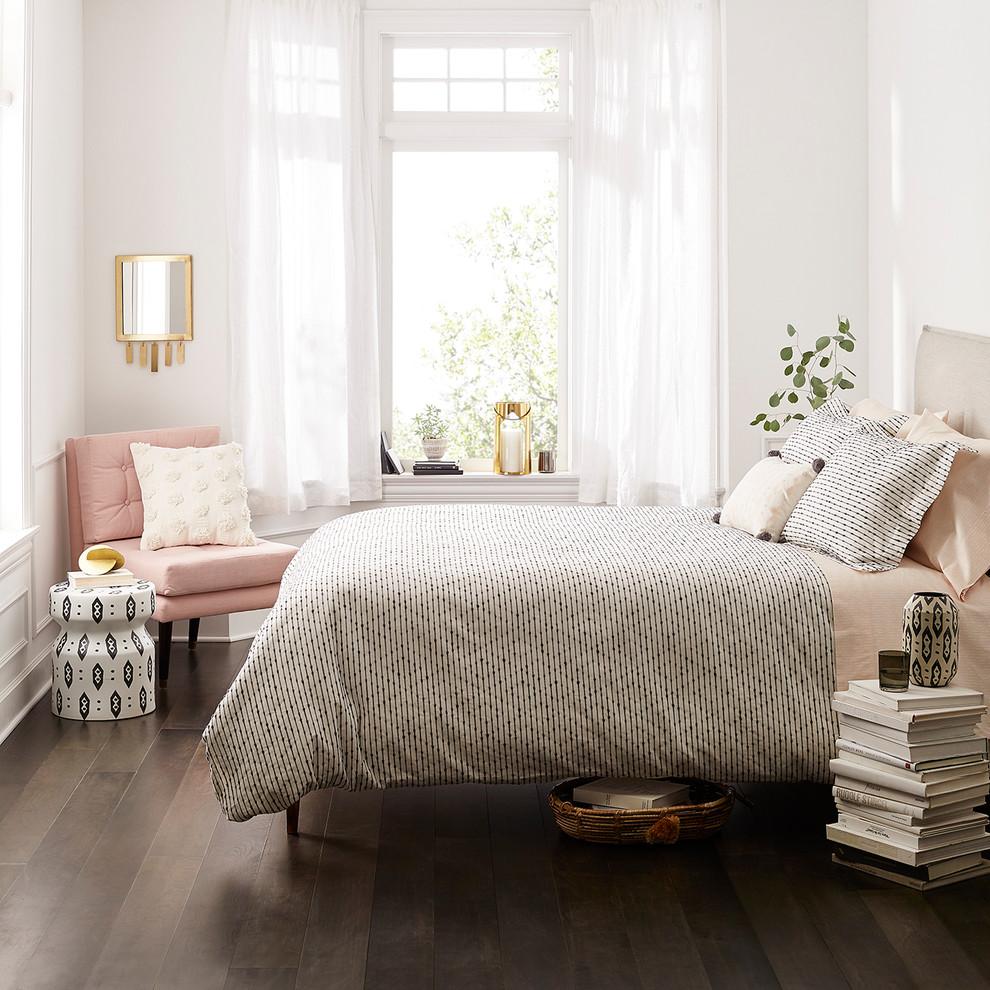 light & bright bedroom featuring nate berkus - modern