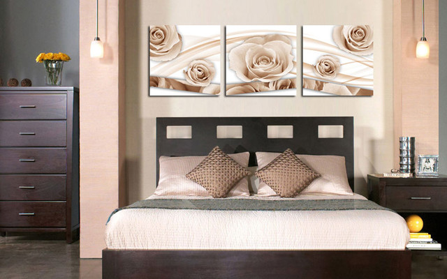 Interior Canvas Ideas For Bedroom light coffee roses custom canvas prints bedroom atlanta by bedroom
