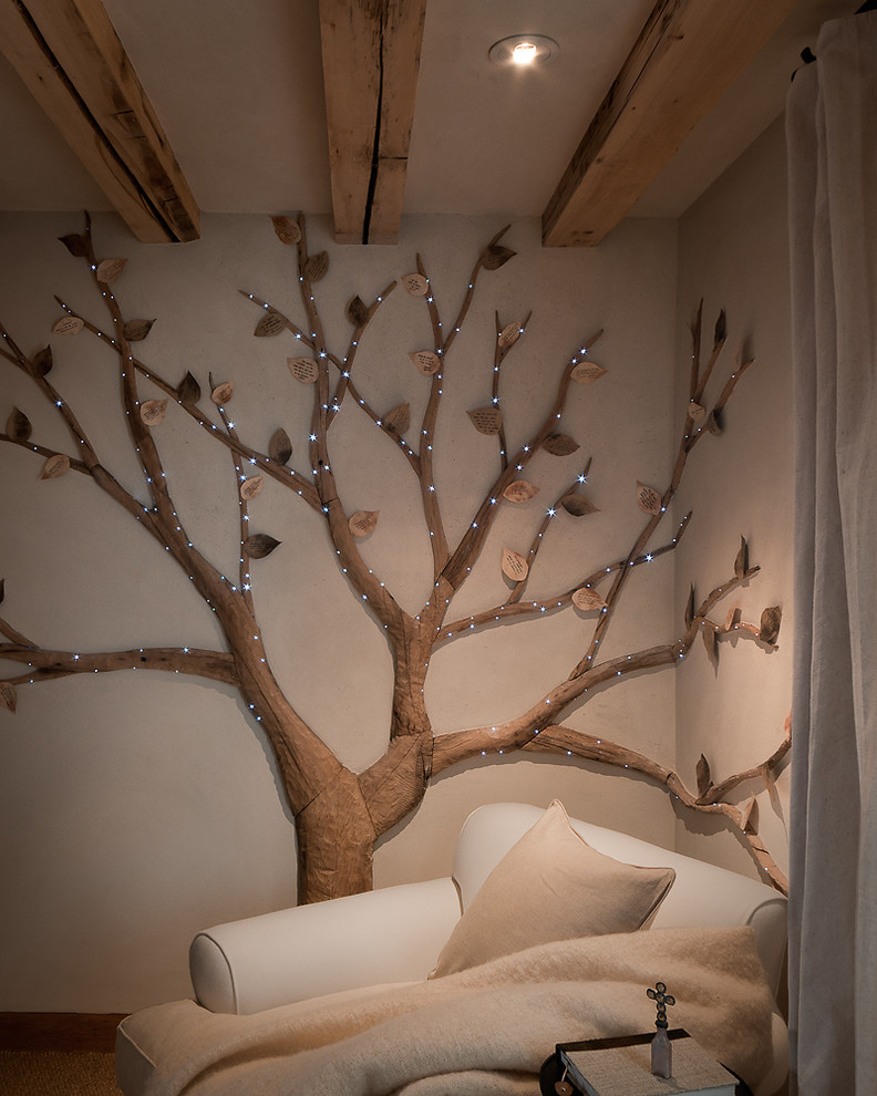 Light Tree Wall Decor Accent Traditional Bedroom Phoenix By Desert Star Construction