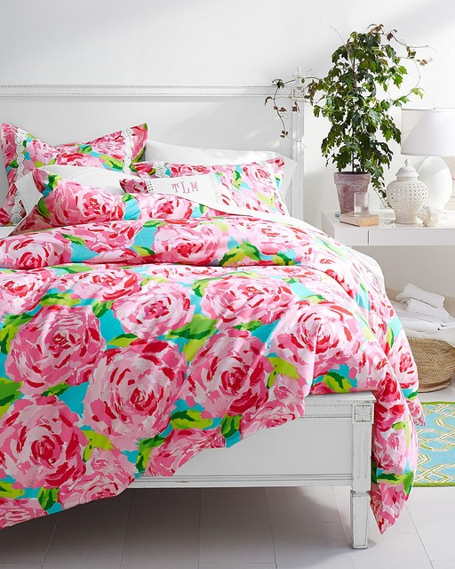 Lilly Pulitzer First Impression Hotty Pink Bedroom - Traditional ...