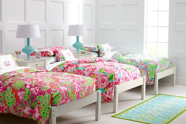 Lilly Pulitzer Sister Florals Bedroom Traditional