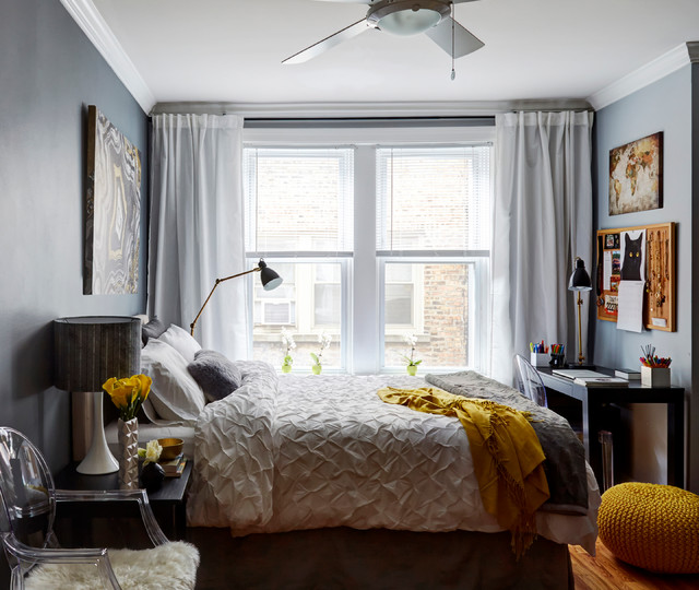 Lincoln Park College Studio Apartment Contemporary Bedroom Chicago By Orange Interiors