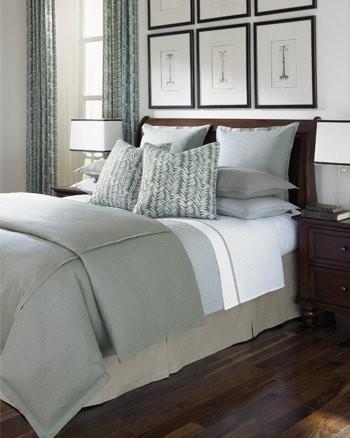 linen bedding traditional bedroom