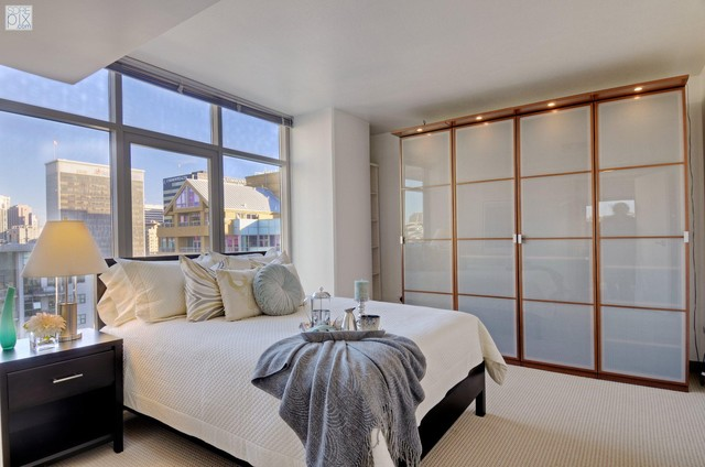 Little Italy Condo, San Diego Stage contemporary-bedroom