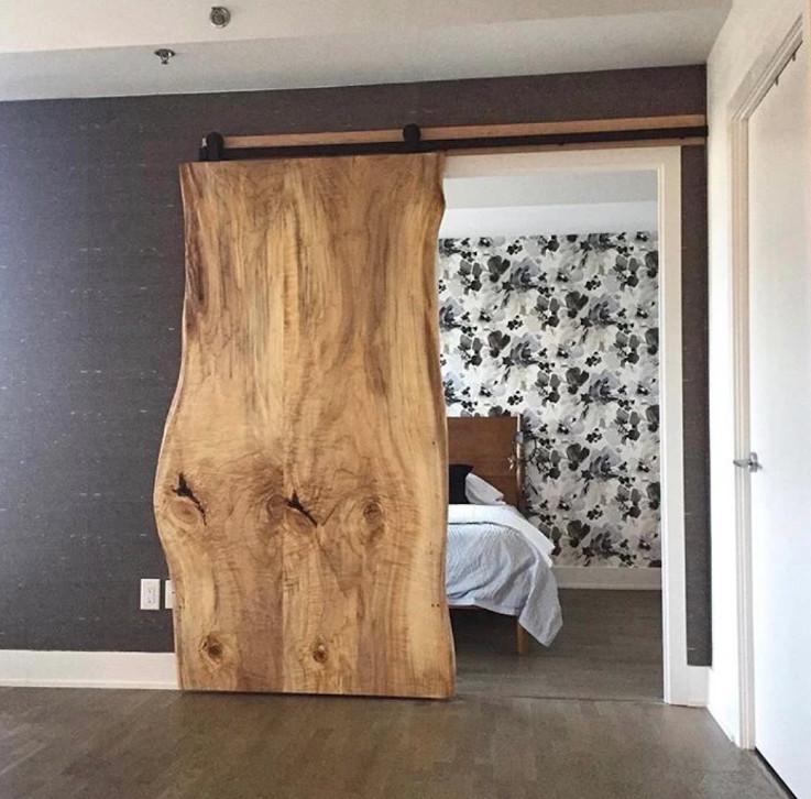 Live Edge Barn Door - Ottawa, ON - Rustic - Bedroom ...