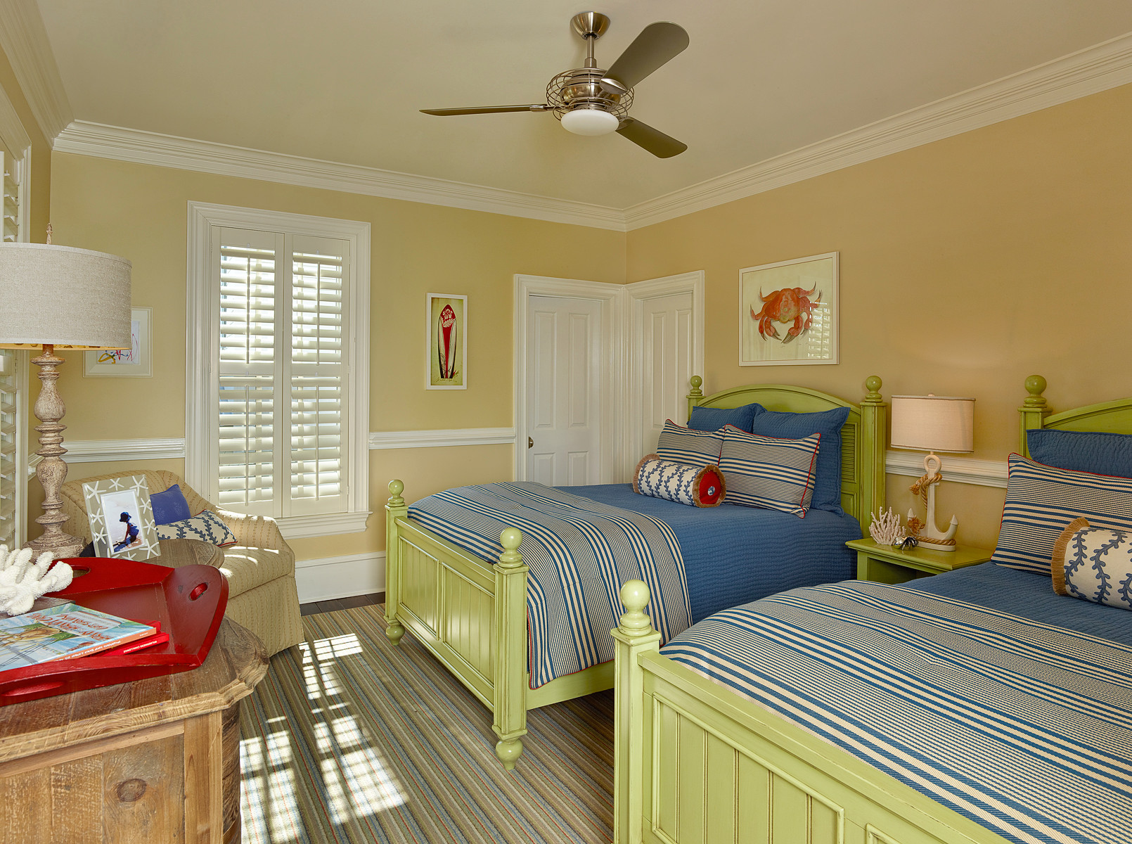 Picture of: Guest Room 2 Full Beds Houzz