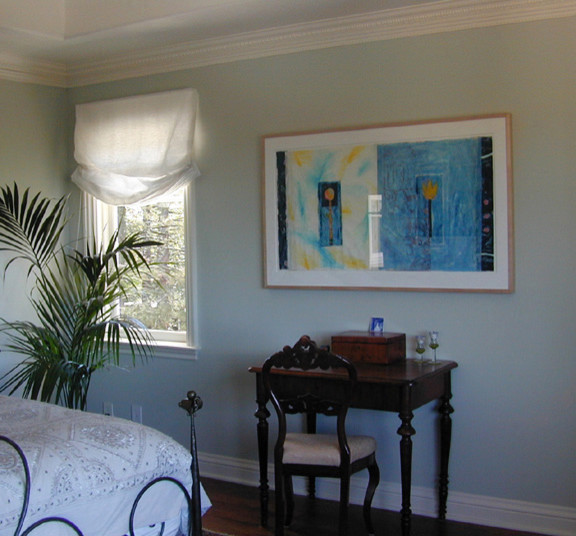 Living with Art in Bedroom traditional-bedroom