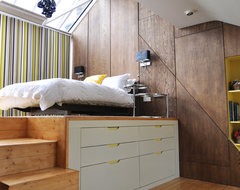 Loft bedroom contemporary-bedroom