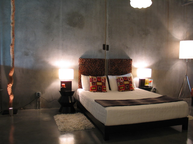 Loft Bedroom industrial-bedroom & Loft Bedroom - Industrial - Bedroom - Portland - by Pangaea Interior ...