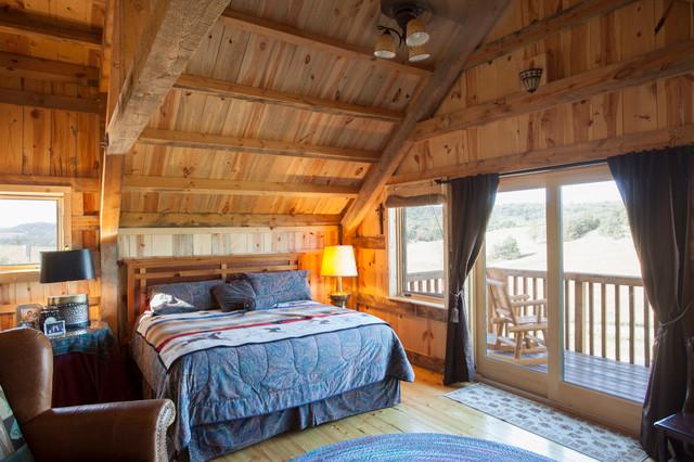 Loft living in a nebraska barn home traditional for Living quarters loft