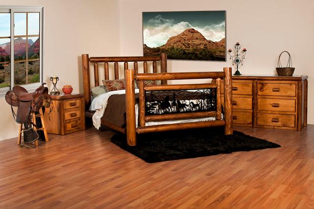 Log Bedroom Furniture Rustic Bedroom Toronto By Log Furniture And More