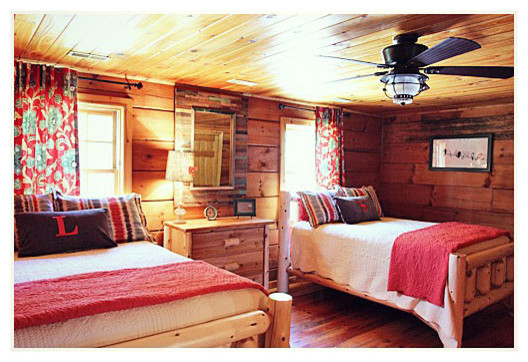 Log Cabin Makeover Traditional Bedroom