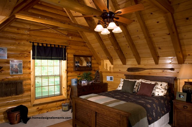 Log Home Caldwell Traditional Bedroom Other By