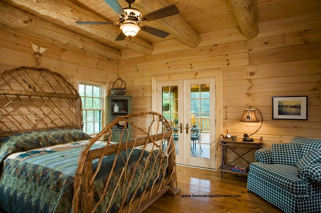 log home edenfield traditional bedroom other by