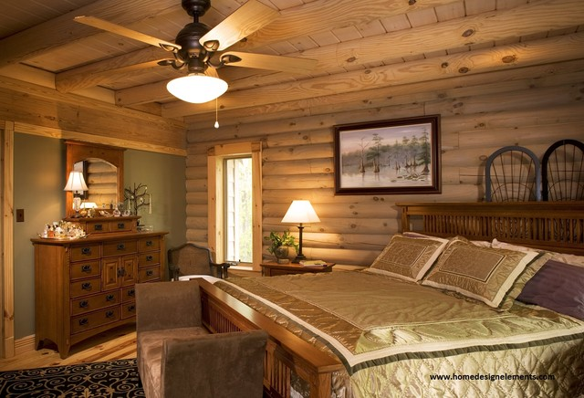 Log Home Lavely Traditional Bedroom Other Metro