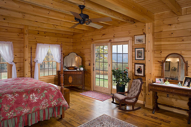 Log Homes Cabins Coventry Log Homes The Athens Rustic Bedroom By Coventry Log Homes