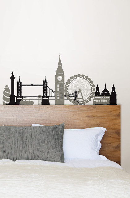 London calling city skyline wall art by wallpops bedroom