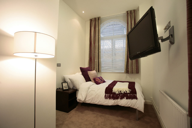 London Student Accommodation contemporary-bedroom