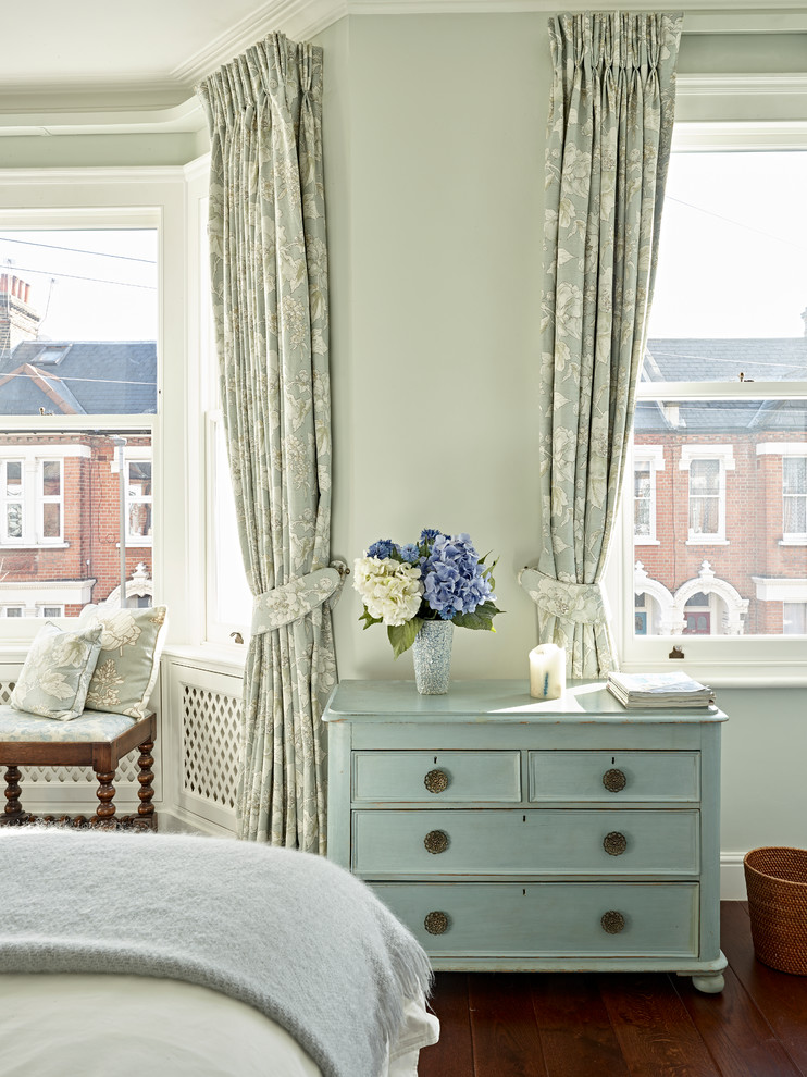 Inspiration for a mid-sized transitional bedroom remodel in London