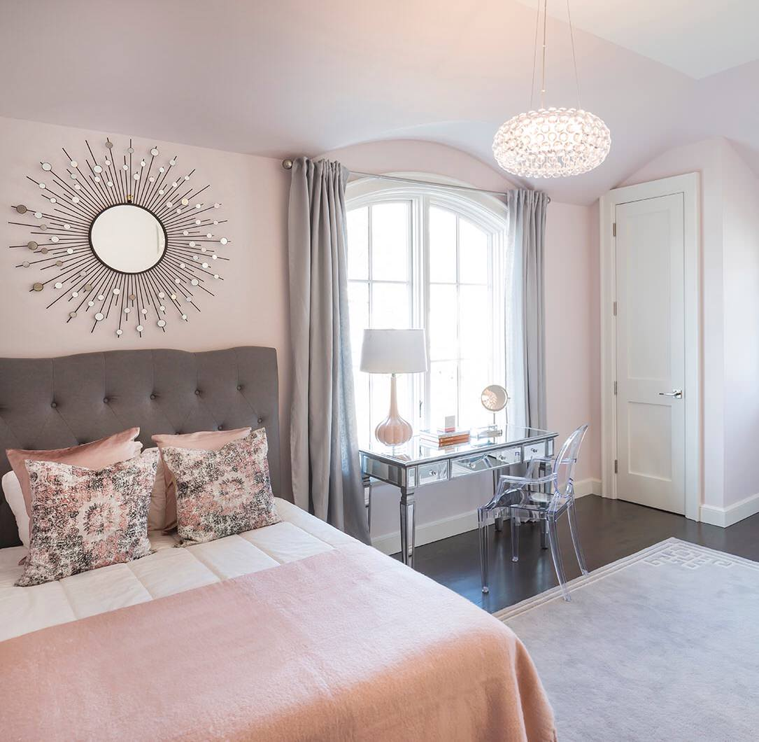75 Beautiful Bedroom With Pink Walls Pictures Ideas February 2021 Houzz