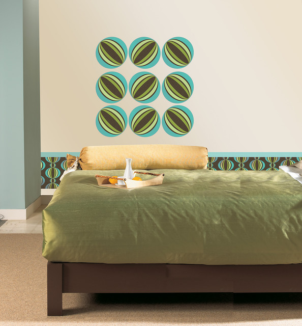 Loopy Blue by WallPops Available in Dots, Blox and Stripes bedroom