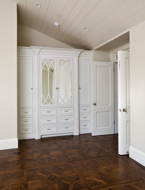 Painted built in cabinets traditional bedroom san for Bedroom cabinet ideas