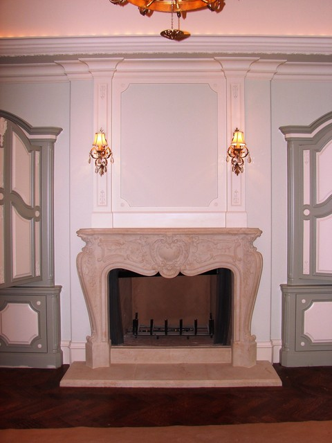 Louis style mantel traditional-bedroom