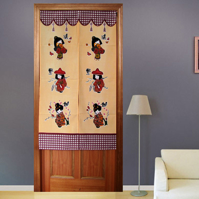 Lovely Kawaii Girls Japanese Door Curtain Contemporary Bedroom