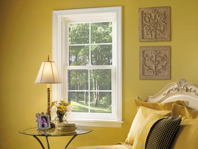 Lovely vinyl windows traditional bedroom dc metro for Window nation