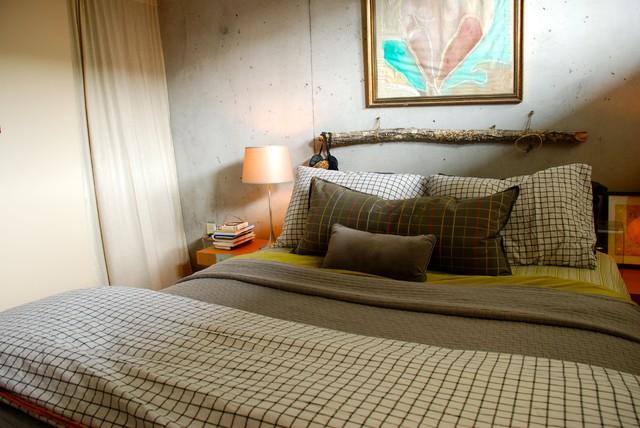 Lucas's Loft eclectic-bedroom