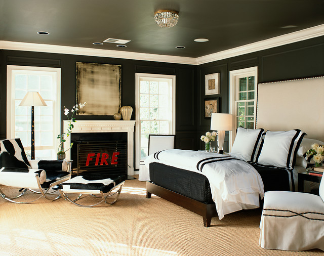 contemporary bedroom by Philip Nimmo Design