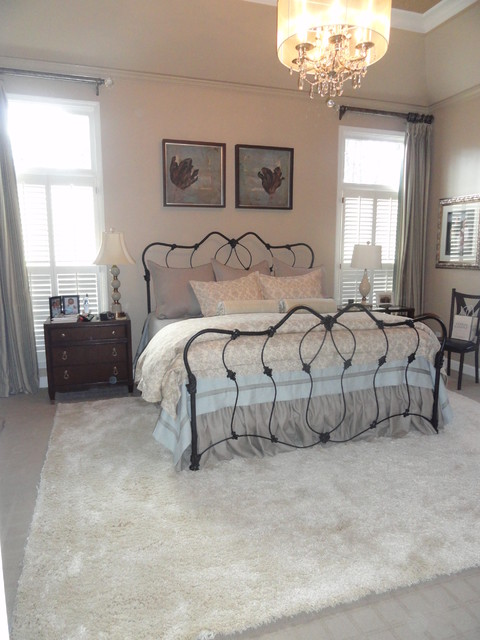 Casual Elegant Bedroom and Office traditional-bedroom