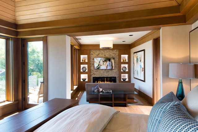 Luxurious Master Bedroom Contemporary Bedroom Baltimore By Purple Cherry Architects