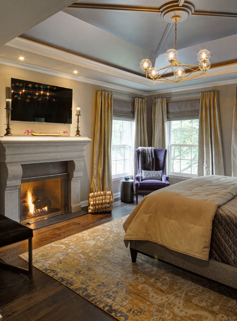 Luxurious Master Suite Transitional Bedroom Chicago By Drury Design