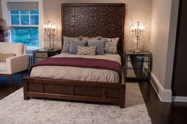 Luxurious Master Suite With Custom Closets And Shelves Transitional Bedroom New York By